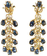 One Kings Lane Vintage Kramer Sapphire Crystal Drop Earrings