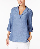 Charter Club Linen Roll-Tab Top, Created for Macy's