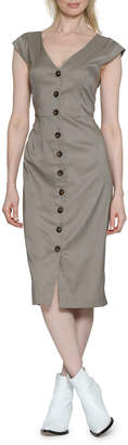 Walter Baker Carletta Button-Down Check Sheath Dress
