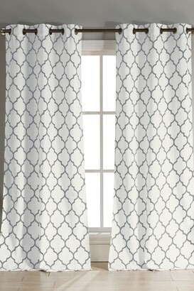 Duck River Textile Mason Grommet Pair Curtain - Set of 2 - Gray