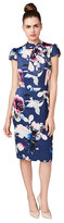 Betsey Johnson Blooms And Bows Midi Dress
