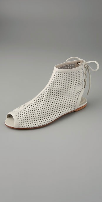 Candela Loro Tie Back Perforated Booties