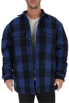 R 13 Checked Padded Shirt Jacket