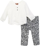 7 For All Mankind Top & Pant 2-Piece Set (Baby Girls)
