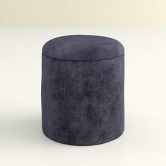 Hashtag Home Castorena Round Storage Ottoman Hashtag Home Upholstery Color: Dark Gray