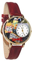 Whimsical Watches Women's G0420013 Unisex Gold Movie Lover Gold Leather And Goldtone Watch