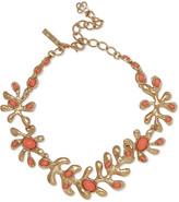 Oscar de la Renta Sea Tangle gold-tone resin necklace