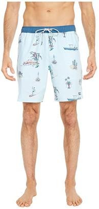 Salty Crew Pescador Elastic Boardshorts (Aqua) Men's Swimwear