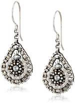 Miguel Ases Pyrite Bead and Sterling Silver Mini Teardrop Earrings