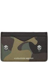Alexander McQueen Black Leather Skull Card Holder