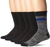 Hanes Men's 5-Pack Dress Casual Crew Half Cushion Socks