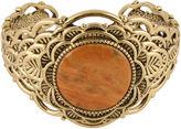 Barse BIJOUX BAR Art Smith by Dyed Orange Sponge Coral Brass Cuff Bracelet