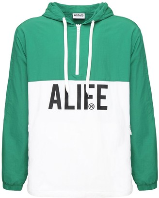Alife Registered Logo Half-Zip Hoodie
