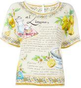 Dolce & Gabbana Granita al Limones print top