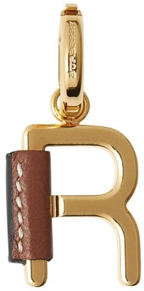 Burberry leather-wrapped 'R' alphabet charm