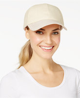 INC International Concepts Mixed Material Baseball Cap, Created for Macy's