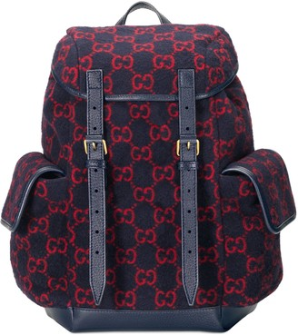 Gucci Small GG wool backpack