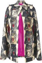 Gucci Tiger print midi cape - women - Silk/Wool - 40