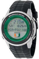 Game Time Miami Hurricanes Stainless Steel Digital Schedule Watch - Men