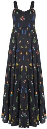 Em & Shi Midnight Botanica Tiered Dress