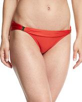 Vix Solid Banded Swim Bottom, Red