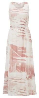 BOSS Regular-fit maxi dress with plisse detailing