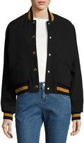 See by Chloe Varsity Logo Wool Bomber Jacket
