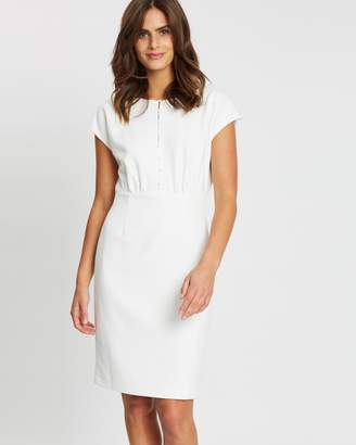 French Connection Button Front Shift Dress