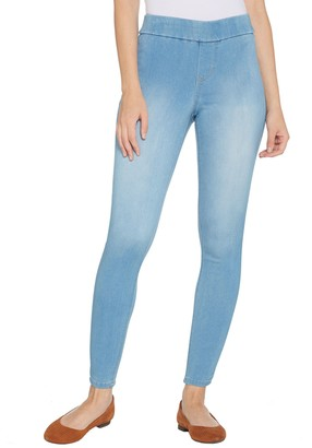 Denim & Co. Distressed Pull-On Stretch Denim Leggings