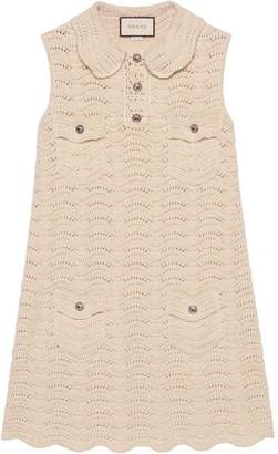 Gucci Crochet Knitted Mini Dress