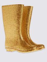 Marks and Spencer Kids' Wellington Glitter Boot
