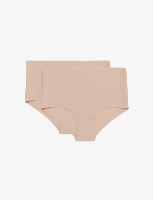 Organic Basics Invisible high-rise nylon-blend briefs pack of two