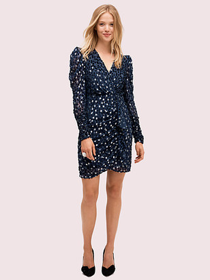 Kate Spade Scatter Dot Velvet Dress