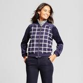 A New Day Women's Plaid Bomber Jacket - A New Day Navy