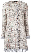 Tagliatore frayed edge tweed jacket - women - Cotton/Acrylic/Polyamide/Viscose - 48