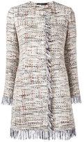 Tagliatore frayed edge tweed jacket