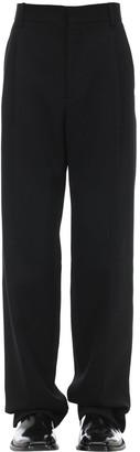 Classic Straight Leg Wool Pants