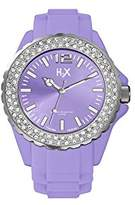 Haurex H2X Women's SS382DL1 Reef Stones Luminous Water Resistant Purple Soft Rubber Watch
