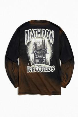 Urban Outfitters Death Row Records Lightning Bleach Dye Long Sleeve Tee