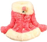 Sartstar Baby Girl Toddlers Winter Coat Faux Fur Wrap Surcoat Size -elon Red
