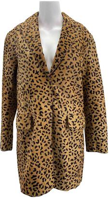 Alexander McQueen Camel Leather Coats