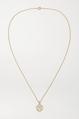 Noor Fares 18-karat Gold, Rock Crystal And Diamond Necklace