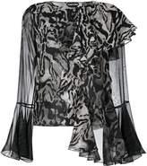 Tom Ford asymmetric ruffled blouse