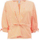 Maison Rabih Kayrouz striped V-neck blouse - women - Cotton - 38