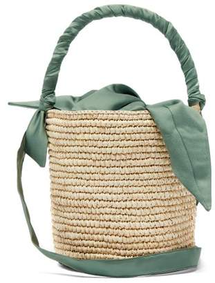 Sensi Studio - X Loulou De Saison Baby Straw Bucket Bag - Womens - Light Green