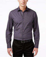Alfani Regular Fit/ Classic Fit Stretch Dot Print Dress Shirt, Only at Macy's