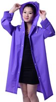 Tina Silvergray Unisex Easy Carried Fast Drying Translucent EVA Raincoat Trench Coat