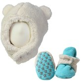Zutano Infant Furry Bear Hat & Gripper Bootie Set
