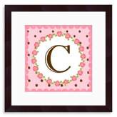 "Bed Bath & Beyond Monogram Rose Initial ""C"" Wall Art"