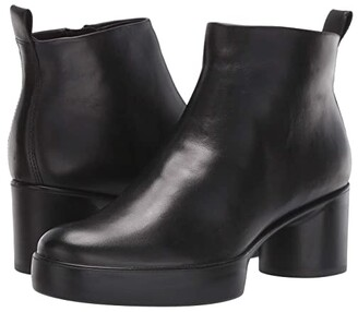 Ecco Shape Sculpted Motion 35 Ankle Boot (Black) Women's Boots